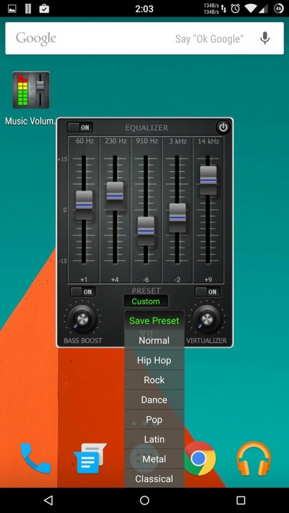 Music Volume EQ (without ROOT)