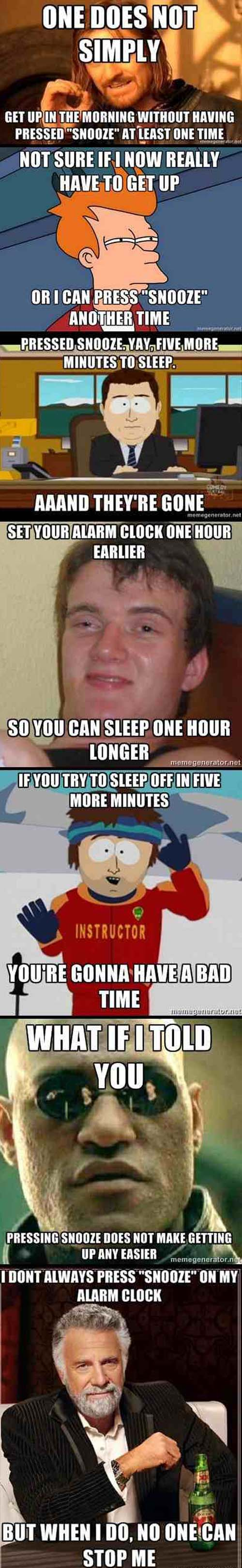 Snooze Alarm Explained By Memes