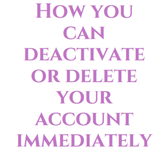 How you can deactivate or delete your account immediately on Facebook