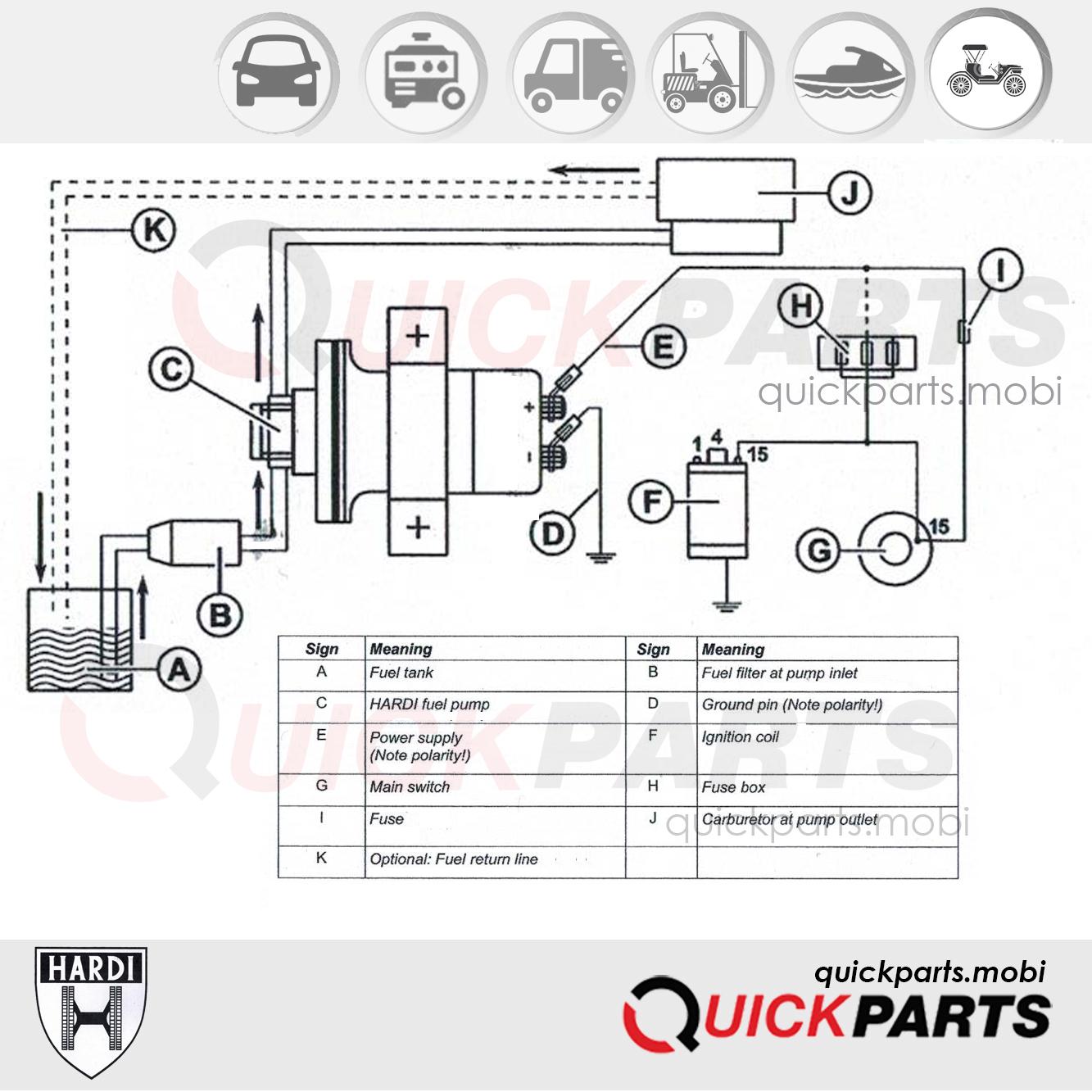 Fuel Universal Pump 12v