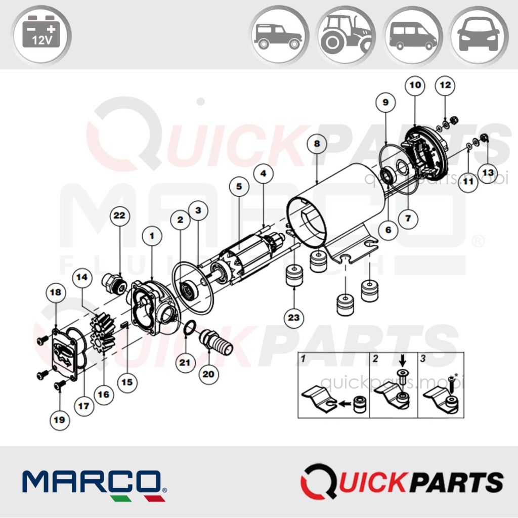 Gear Pump For Lubricating Oil