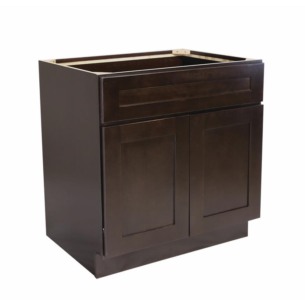 Shaker Espresso Base Cabinets