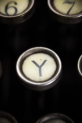 Old Typewriter - Y Key
