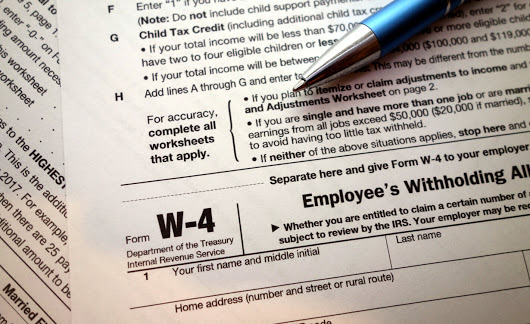Draft 2019 Form W-4 and Instructions Posted ...