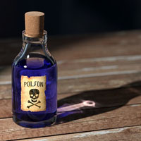 image of a bottle of poison