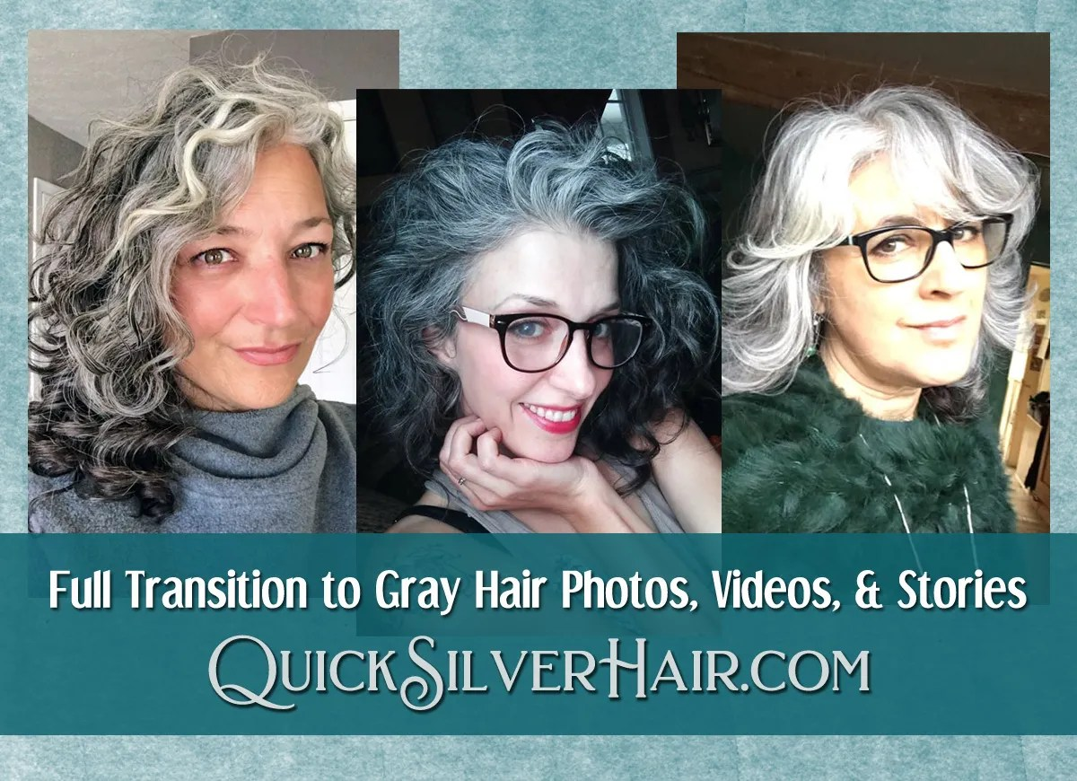Full Transition to Gray Hair Photos, Videos, and Stories ...