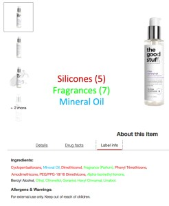 Infographic about synthetic ingredients in hair product