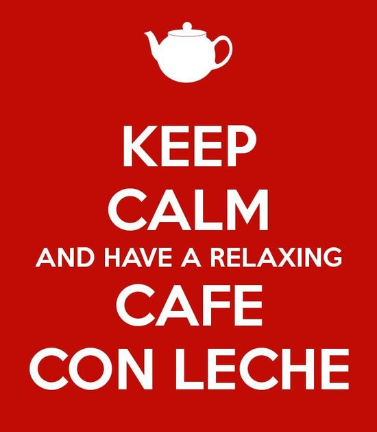 A relaxing cup of café con leche