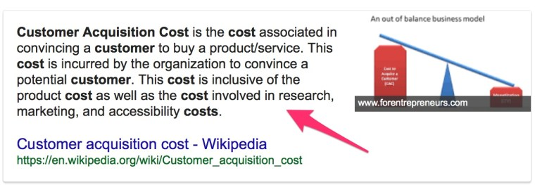 what is custoemr acqusition costs Google Search