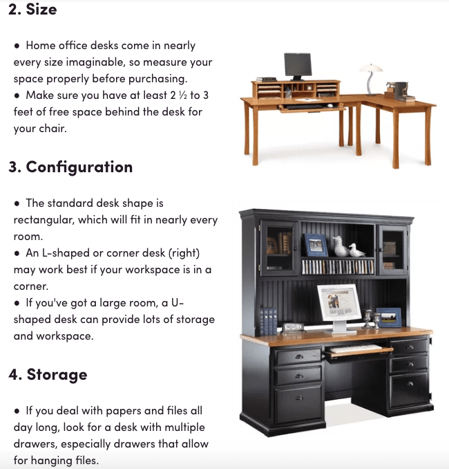 desk buying guide