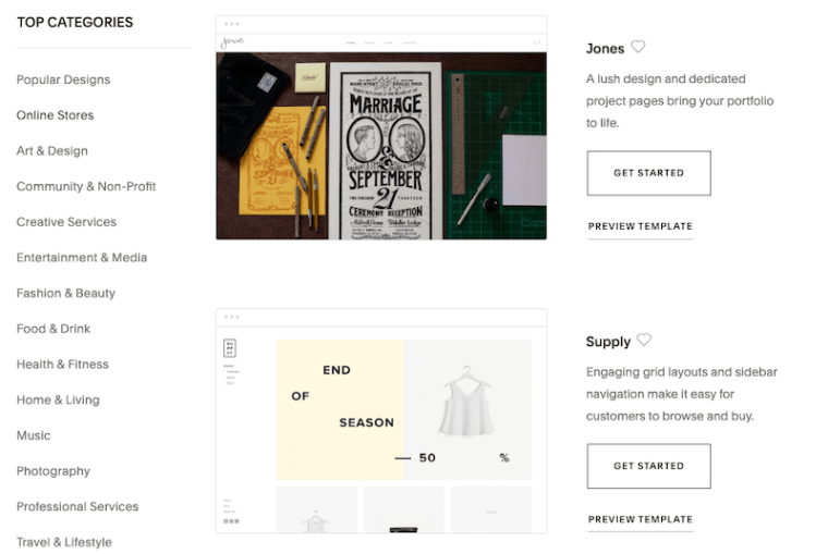 Squarespace ecommerce themes