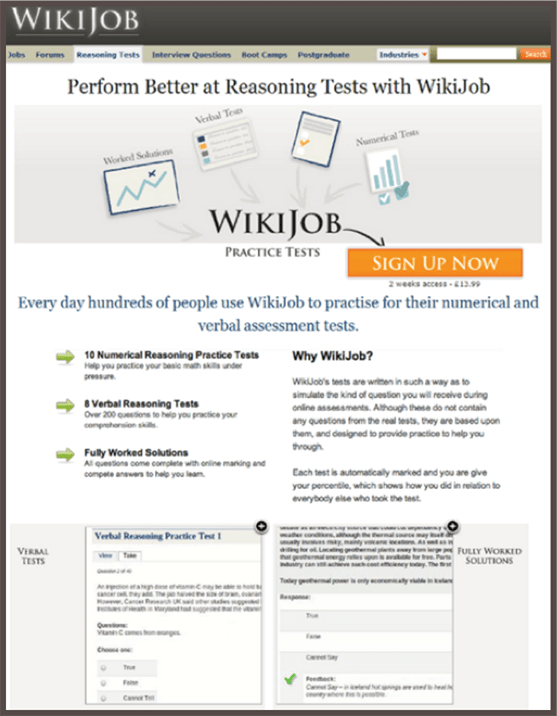 Wikijob Landing Page Control