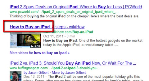 video search title
