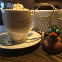 """French Kiss"" latte: caramel and vanilla!"