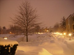 Early morning post-blizzard
