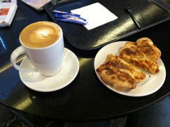 Coffee and savory pastries