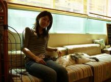 Yoko and cat