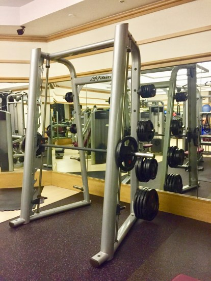 Smith machine for safe back squats
