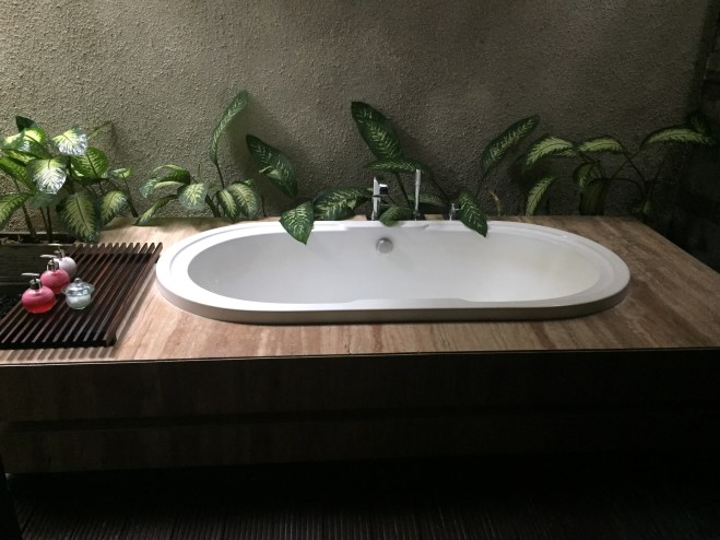 Private lime verbena bath