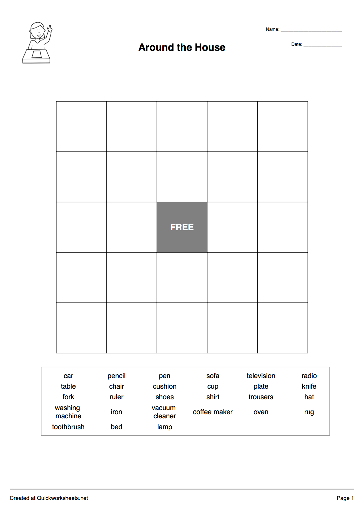 Word Scramble Wordsearch Crossword Matching Pairs And Other Worksheet Makers