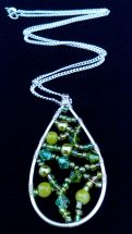 green bead teardrop