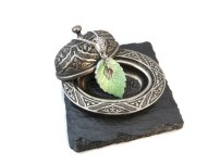 The Leaf © necklace with Tibetan silver charms