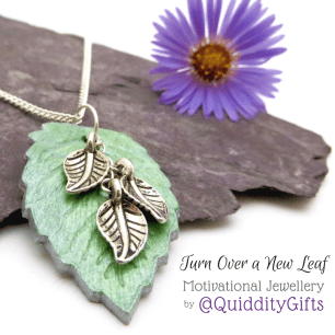 Turn Over a New Leaf jewellery