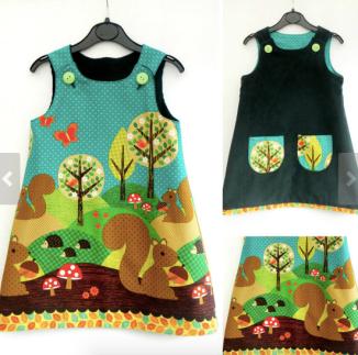 Reversible girls dress by NosyRosieCrafts
