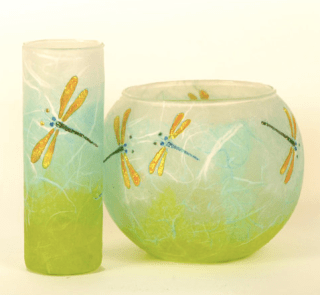 Vase and candleholder by KarenKeirStrawsilk