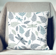 dragonfly pillow by wfrancisdesign