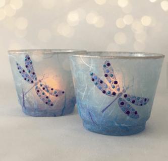 tea light candle holder by TheGlasscraftstudio