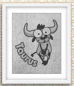 Taurus bull print by GraphicArtStyle