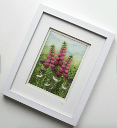 Needlefelted foxgloves by tillyteadance