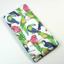 Parrot eyeglasses case by FabricLoveandFun