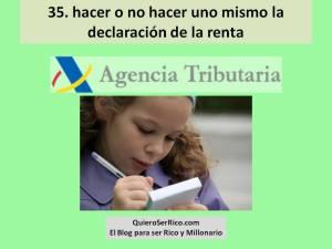 35. hacer o no hacer uno mismo la declaración de la renta