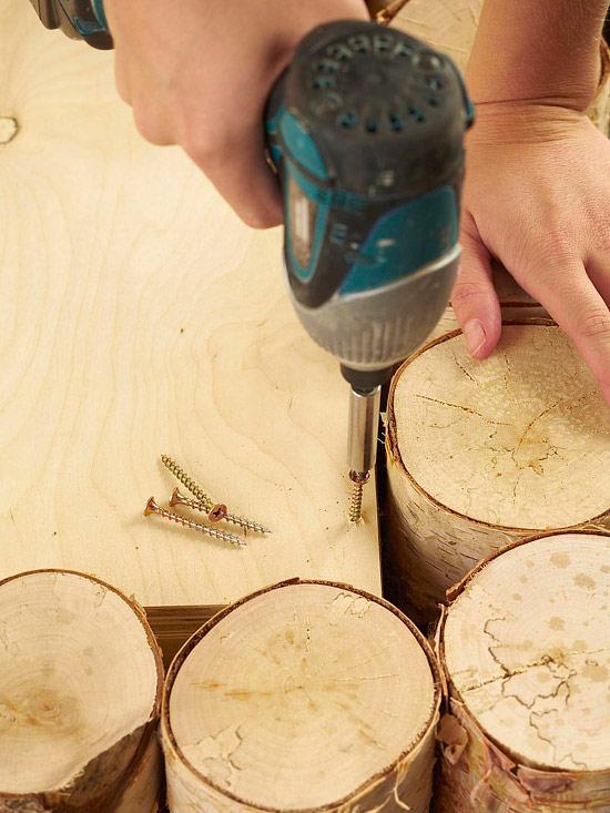 DIY Birch-Log Coffee Table