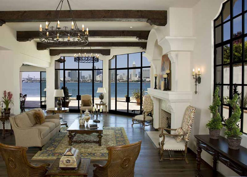 Living Room Designs With Exposed Beams