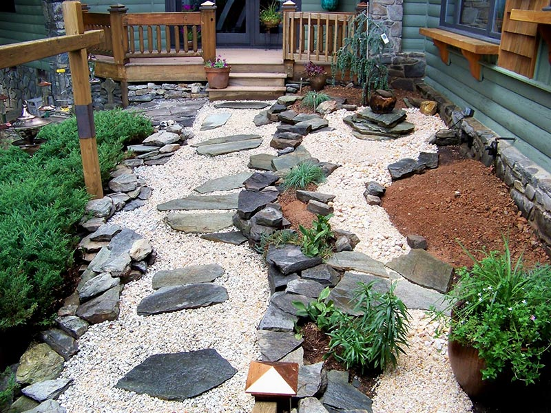 15 Stone Landscaping Ideas - Quiet Corner on Backyard Rock Ideas  id=43652