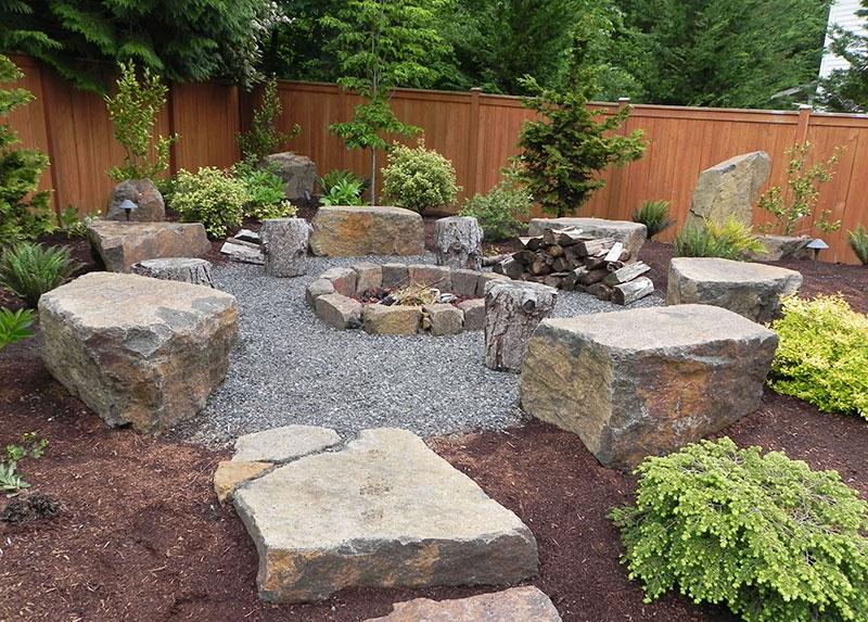 Quiet Corner:15 Stone Landscaping Ideas - Quiet Corner on Backyard With Gravel Ideas id=96398