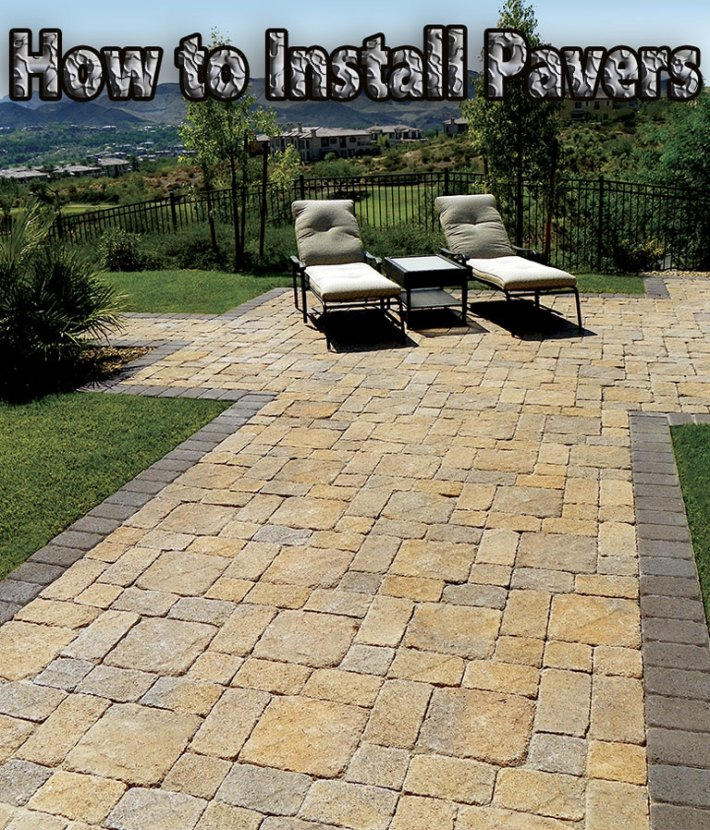 How to Install Pavers