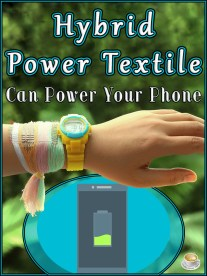 Hybrid Power Textile Can Power Your Phone