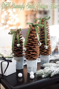 DIY Stunningly Simple Pinecone Decor