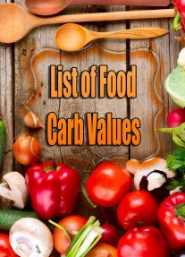 List of Food Carb Values