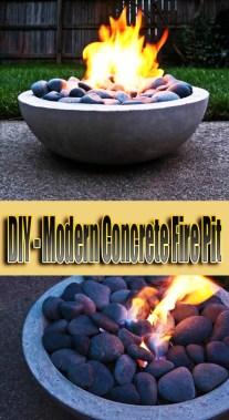 DIY - Modern Concrete Fire Pit