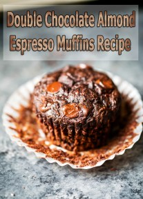 Double Chocolate Almond Espresso Muffins Recipe