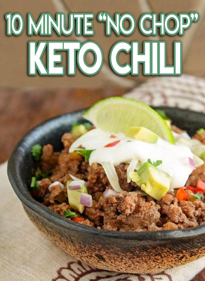 "Low Carb 10 Minute ""No Chop"" Keto Chili"