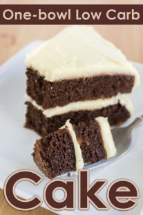Simple One-bowl Low Carb Cake