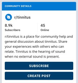 Alternatives to the Gonzo Tinnitus Forum