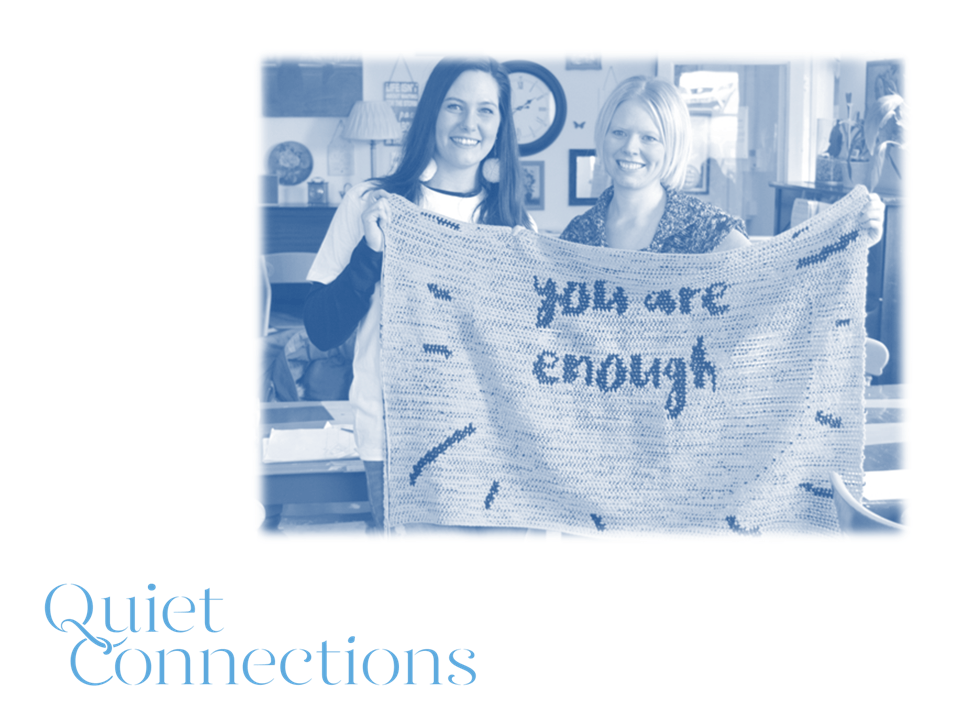 Cornwall Business Fair slide - You Are Enough crochet sign with Stacie Clark and Hayley Stanton