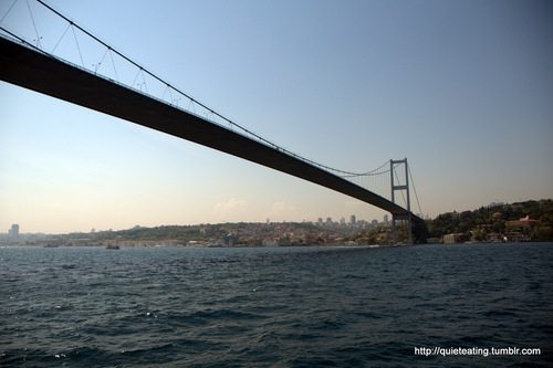 The Bosphorus, the sea and a little sunset